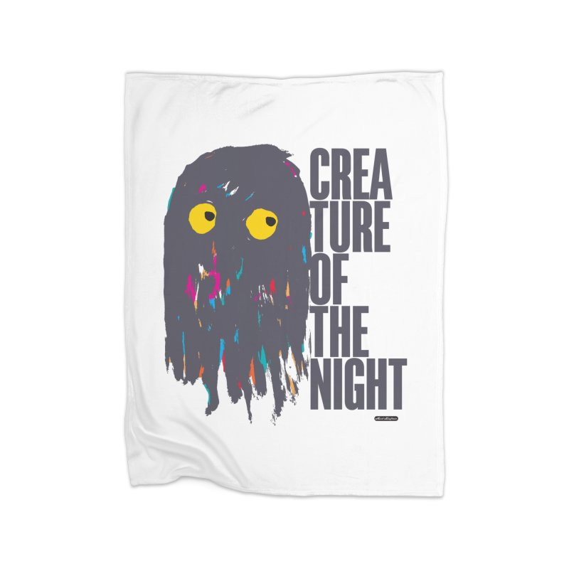 Creature of the Night Home Fleece Blanket Blanket by DRAWMARK