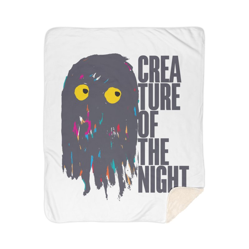 Creature of the Night Home Sherpa Blanket Blanket by DRAWMARK
