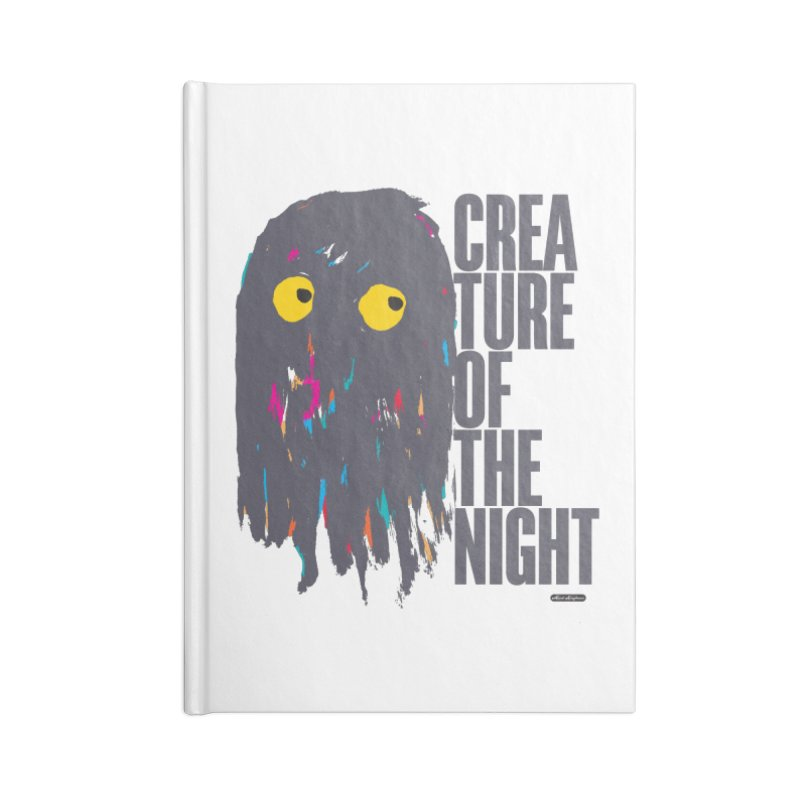 Creature of the Night Accessories Blank Journal Notebook by DRAWMARK