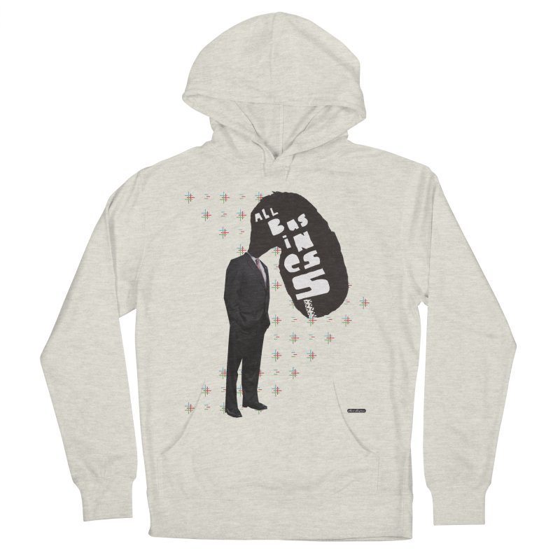 All Business Men's Pullover Hoody by DRAWMARK