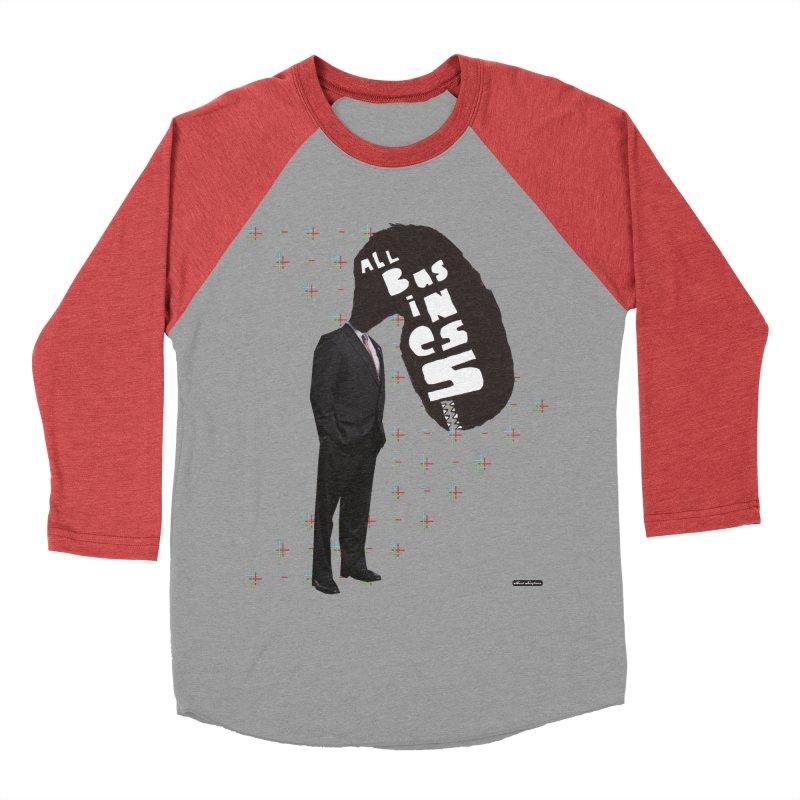 All Business Women's Baseball Triblend Longsleeve T-Shirt by DRAWMARK
