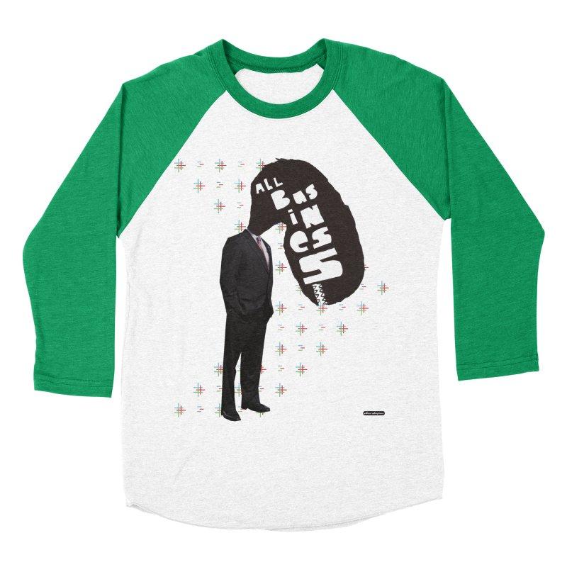 All Business Men's Baseball Triblend T-Shirt by DRAWMARK