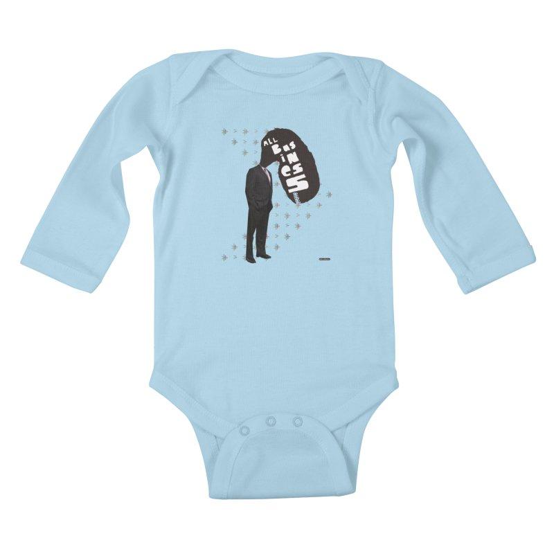 All Business Kids Baby Longsleeve Bodysuit by DRAWMARK
