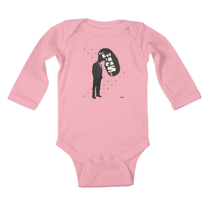 All Business Kids Baby Longsleeve Bodysuit by DRAWMARK