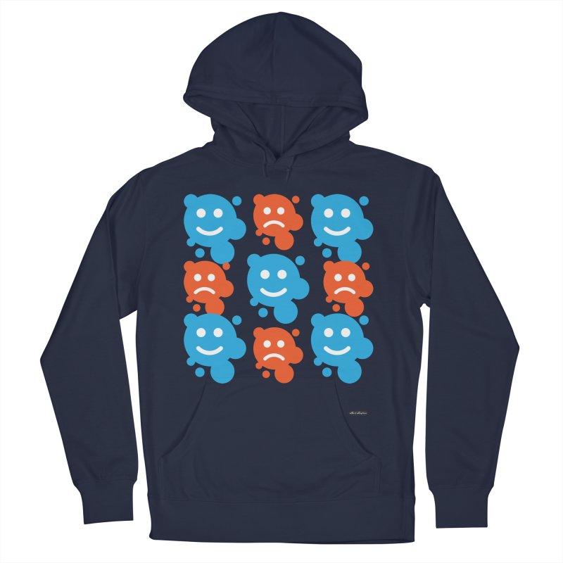 Happy // UnHappy Men's Pullover Hoody by DRAWMARK
