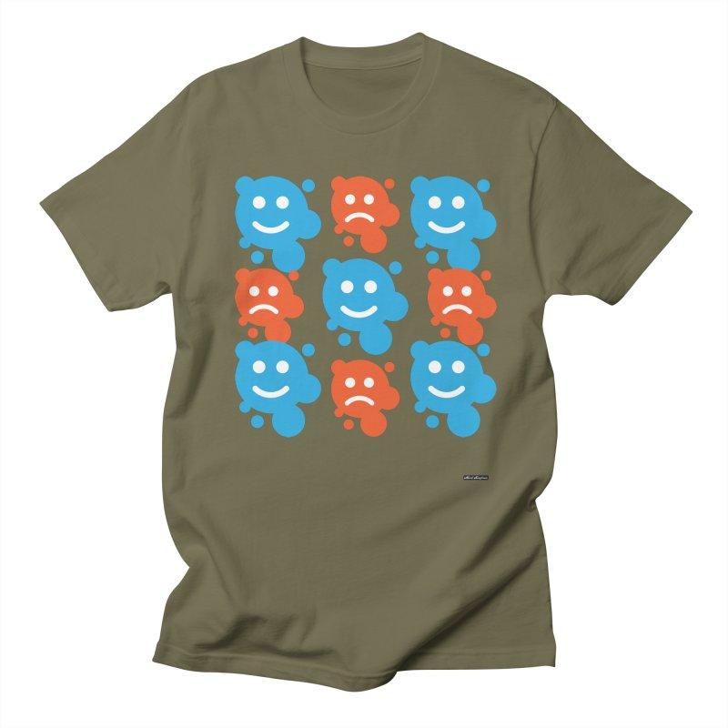 Happy // UnHappy Men's Regular T-Shirt by DRAWMARK