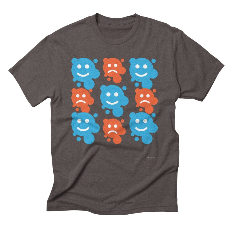 Happy // UnHappy Men's Triblend T-shirt by DRAWMARK