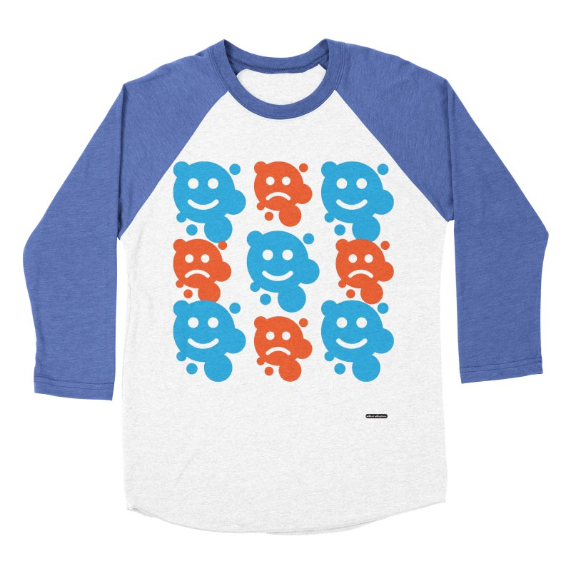 Happy // UnHappy Women's Baseball Triblend Longsleeve T-Shirt by DRAWMARK