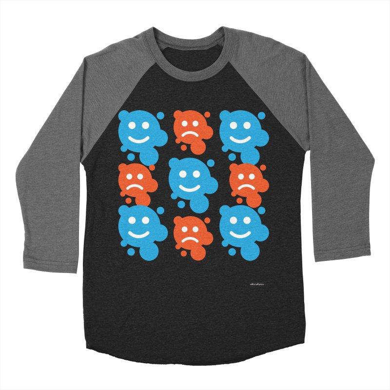 Happy // UnHappy Men's Baseball Triblend T-Shirt by DRAWMARK