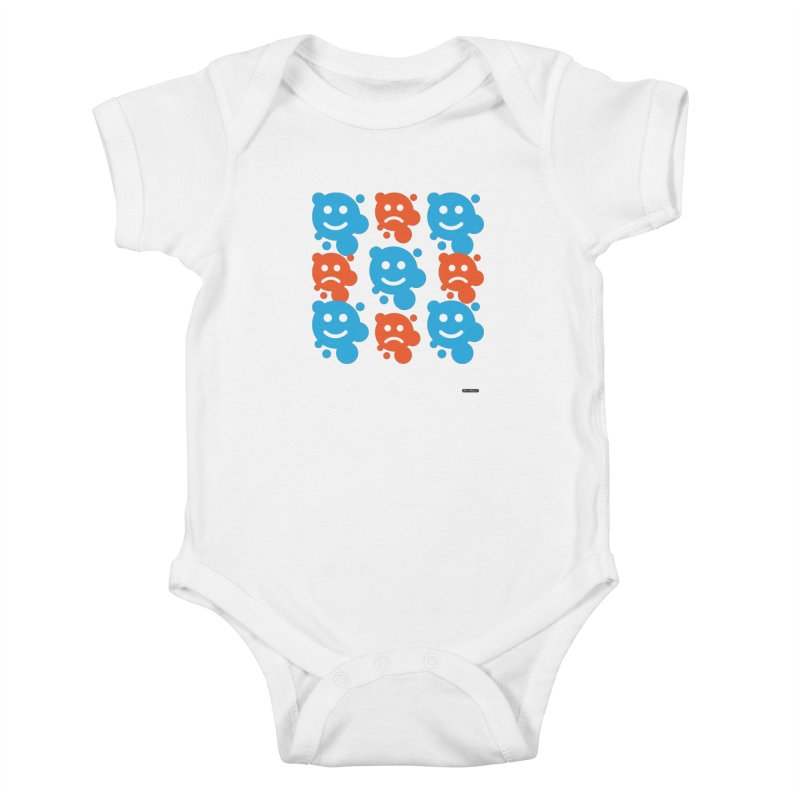 Happy // UnHappy Kids Baby Bodysuit by DRAWMARK