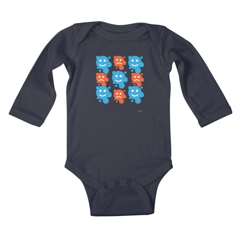 Happy // UnHappy Kids Baby Longsleeve Bodysuit by DRAWMARK