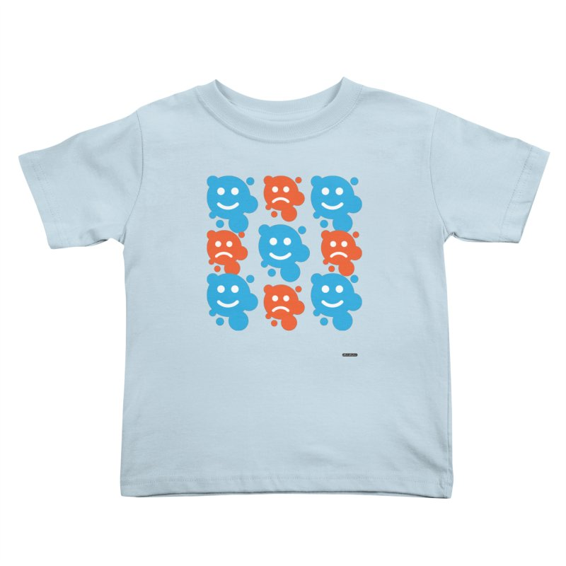 Happy // UnHappy Kids Toddler T-Shirt by DRAWMARK