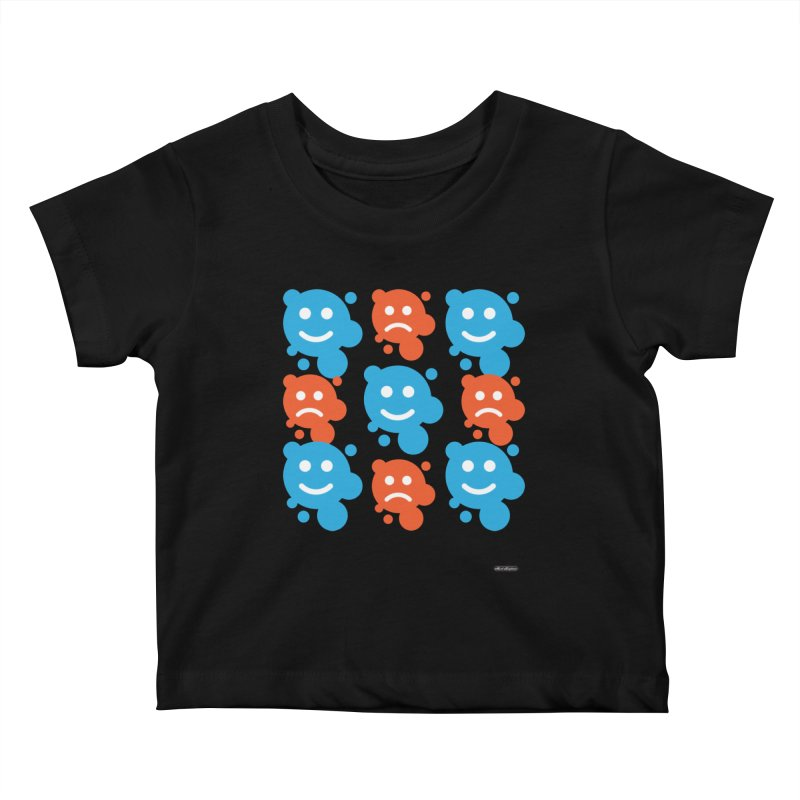 Happy // UnHappy Kids Baby T-Shirt by DRAWMARK