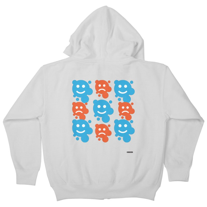 Happy // UnHappy Kids Zip-Up Hoody by DRAWMARK