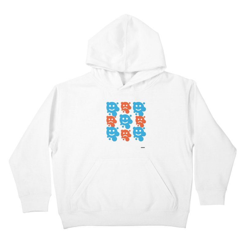 Happy // UnHappy Kids Pullover Hoody by DRAWMARK
