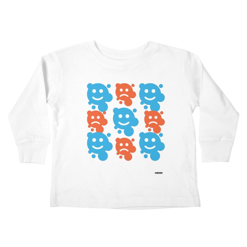 Happy // UnHappy Kids Toddler Longsleeve T-Shirt by DRAWMARK