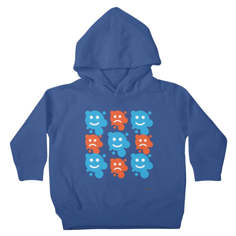 Happy // UnHappy Kids Toddler Pullover Hoody by DRAWMARK