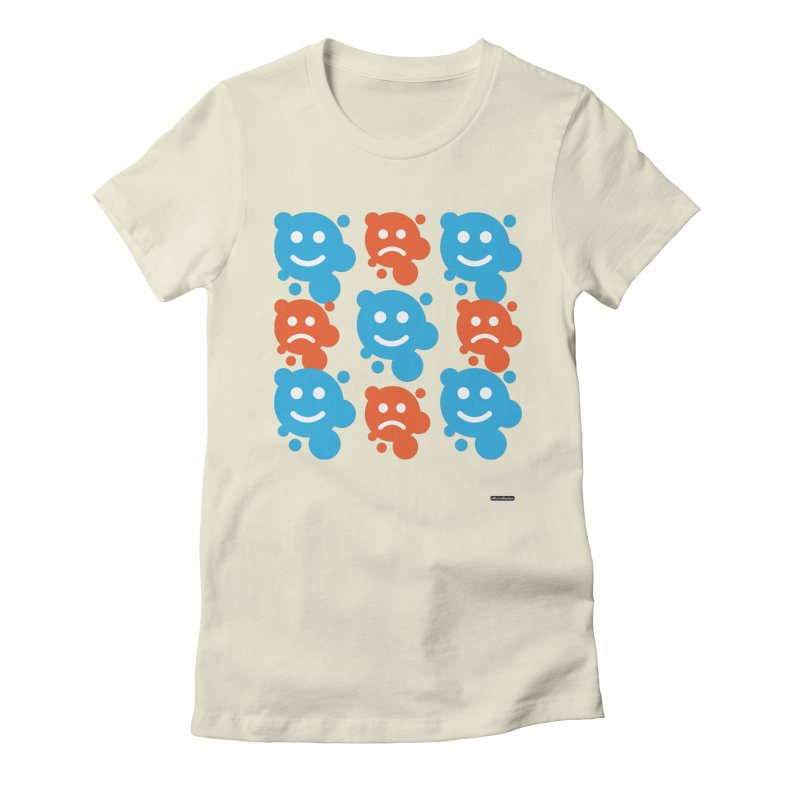 Happy // UnHappy Women's Fitted T-Shirt by DRAWMARK