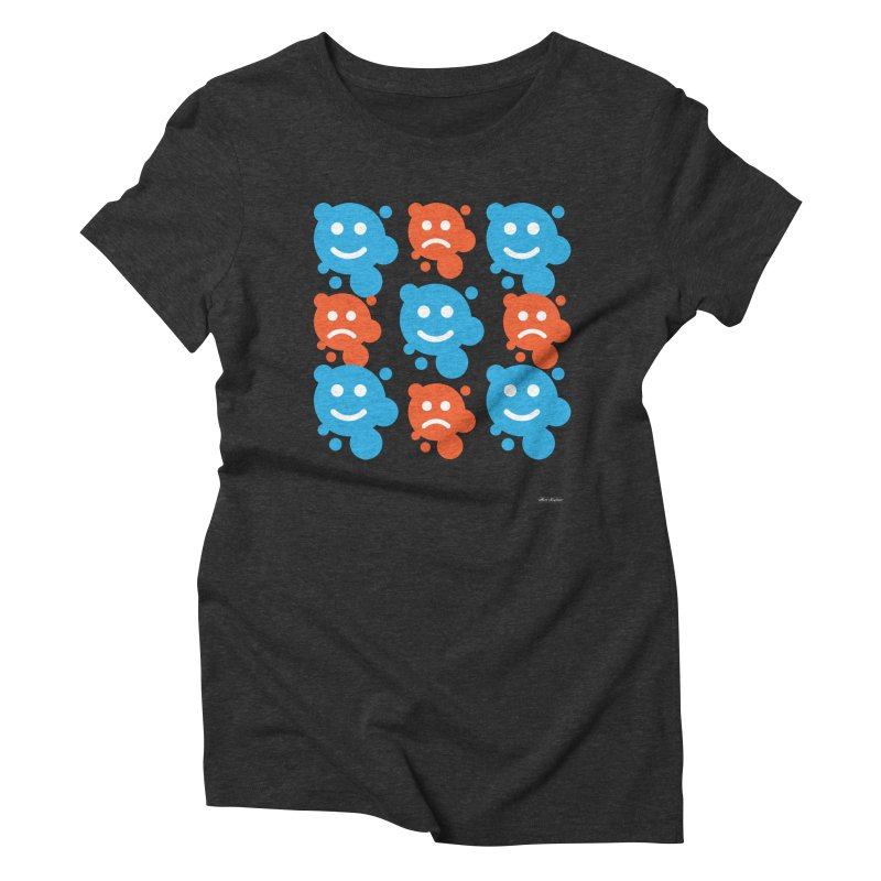 Happy // UnHappy Women's Triblend T-shirt by DRAWMARK