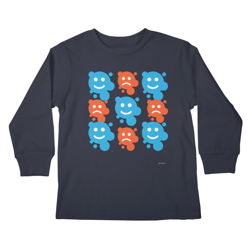 Happy // UnHappy Kids Longsleeve T-Shirt by DRAWMARK