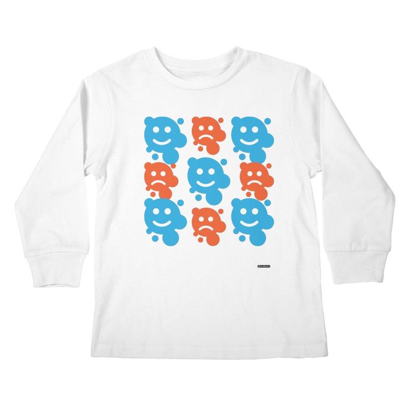 Happy // UnHappy Kids Longsleeve T-Shirt by DRAWMARK
