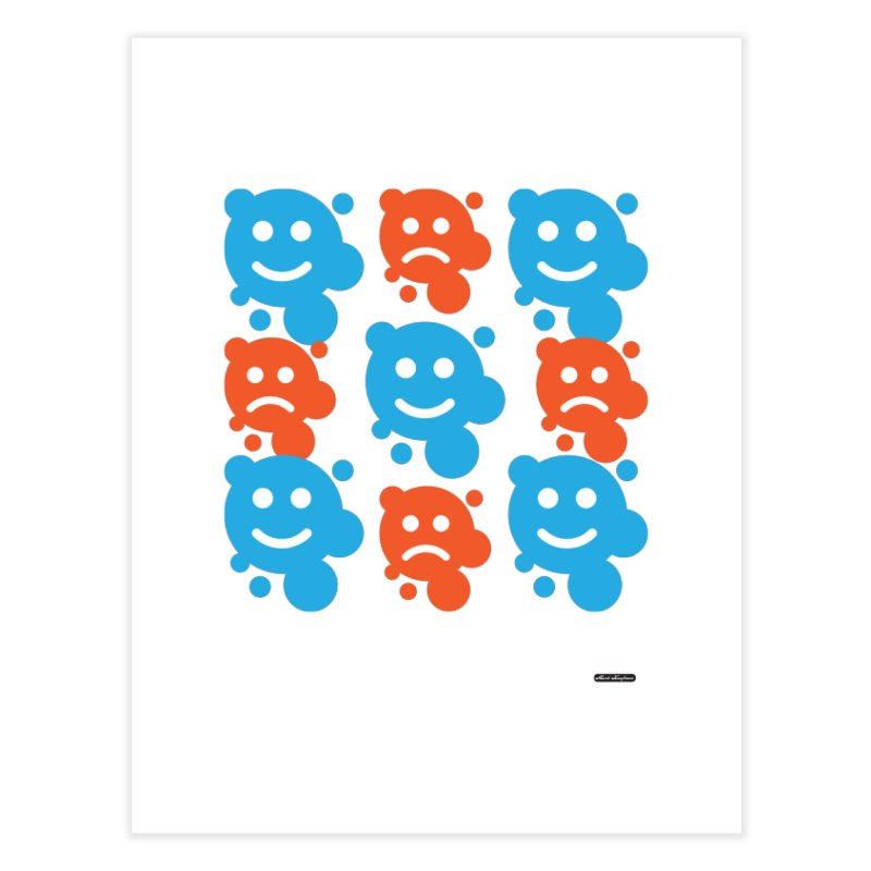 Happy // UnHappy Home Fine Art Print by DRAWMARK