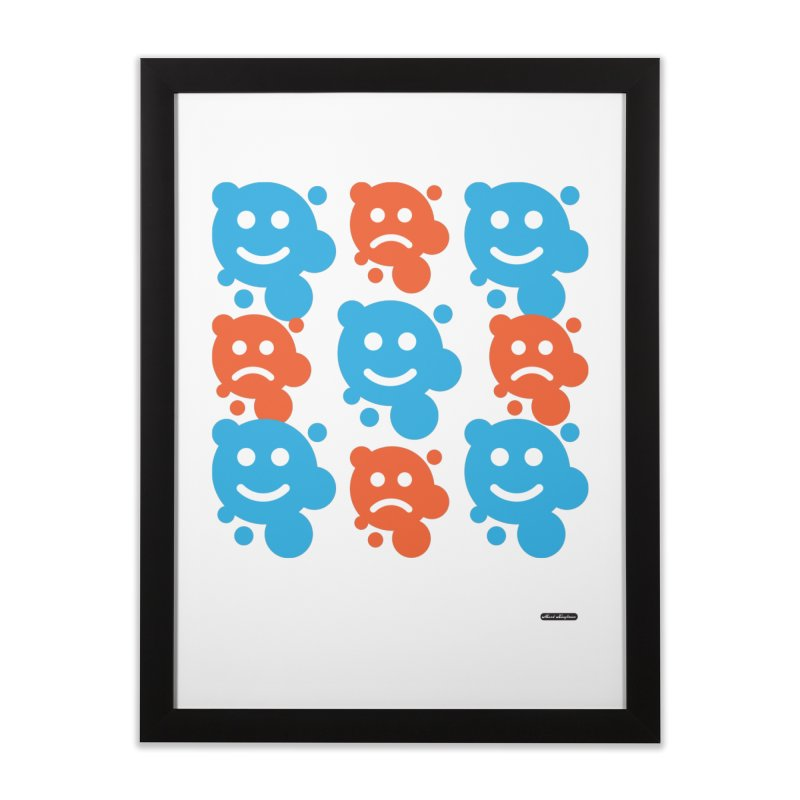 Happy // UnHappy Home Framed Fine Art Print by DRAWMARK