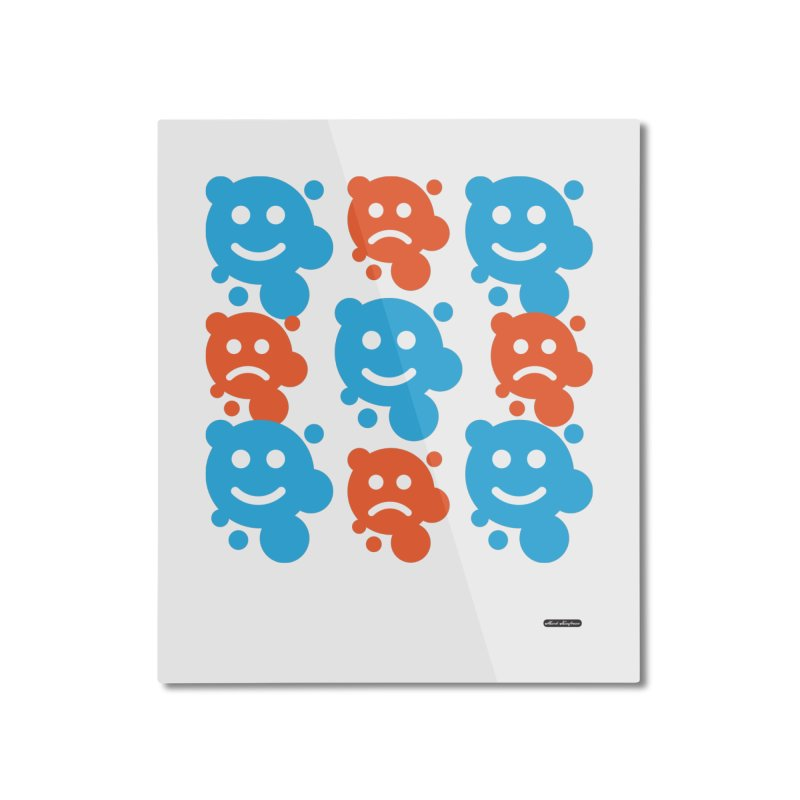 Happy // UnHappy Home Mounted Aluminum Print by DRAWMARK