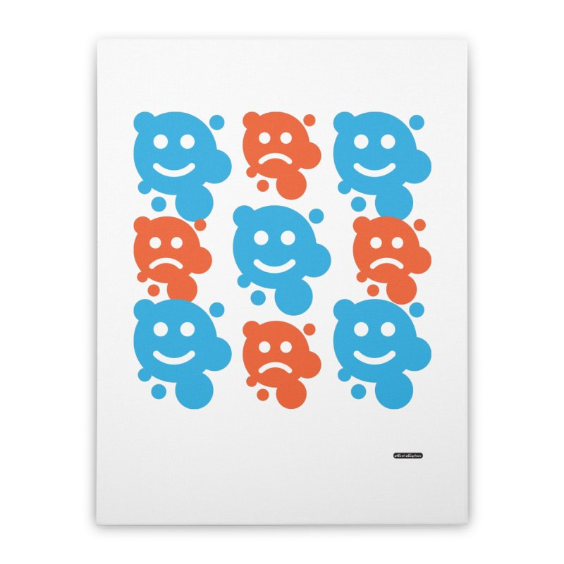 Happy // UnHappy Home Stretched Canvas by DRAWMARK