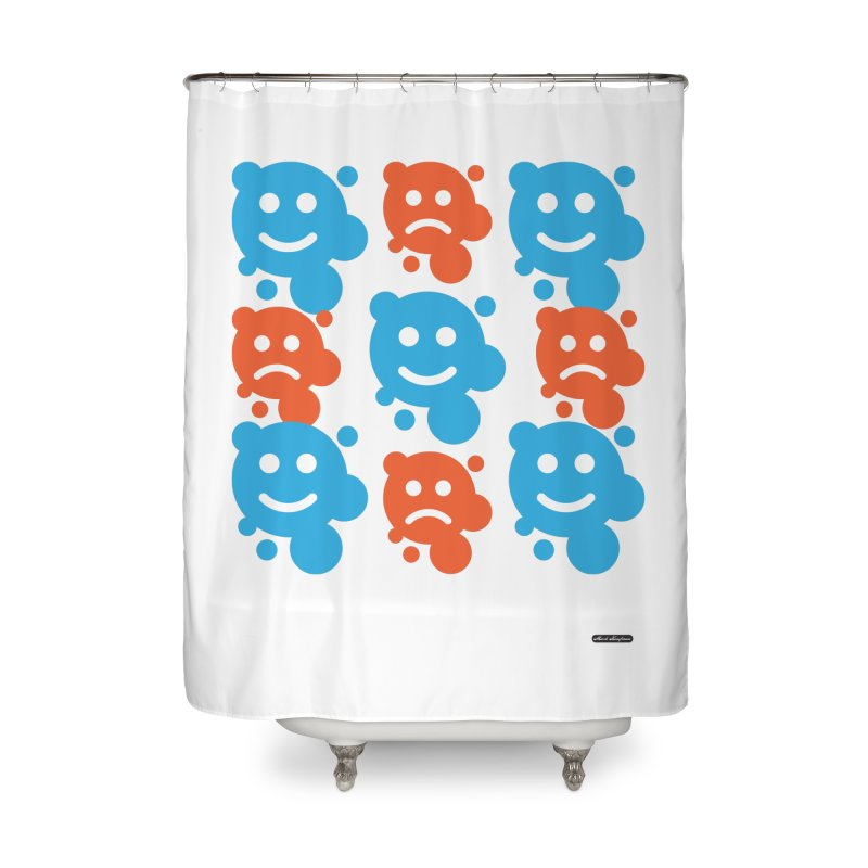 Happy // UnHappy Home Shower Curtain by DRAWMARK