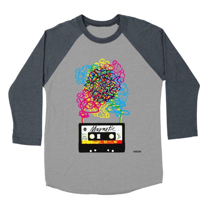 Magnetic Women's Baseball Triblend Longsleeve T-Shirt by DRAWMARK