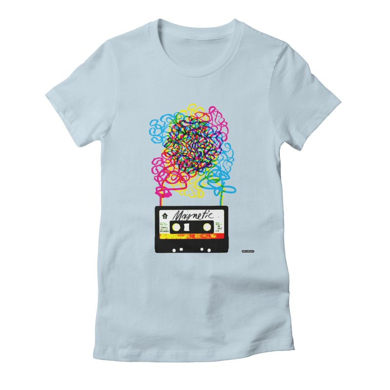 Magnetic Women's Fitted T-Shirt by DRAWMARK