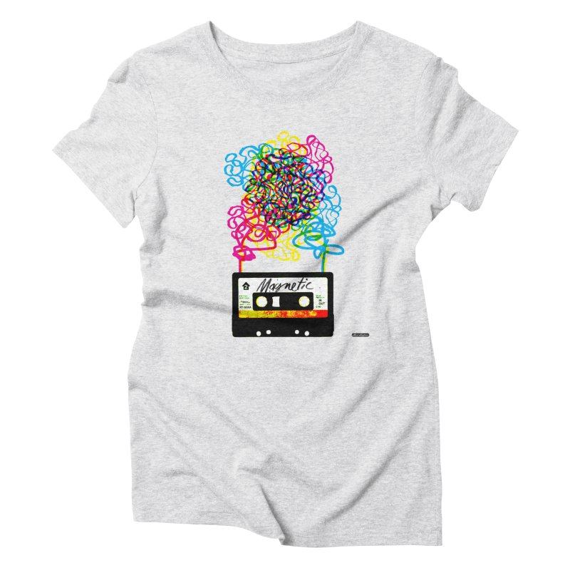 Magnetic Women's Triblend T-shirt by DRAWMARK
