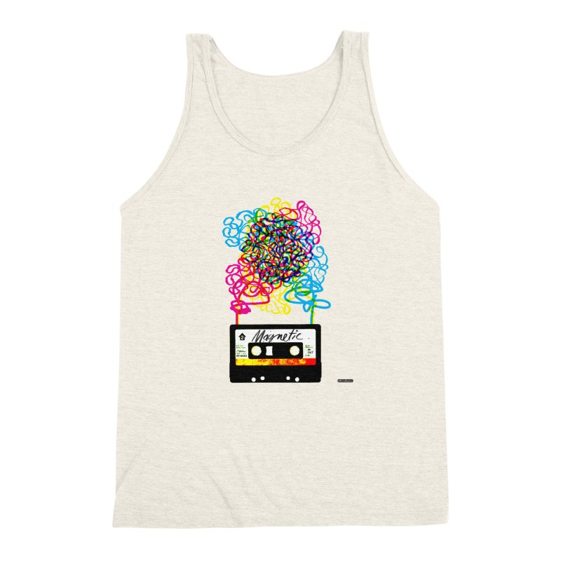 Magnetic Men's Triblend Tank by DRAWMARK