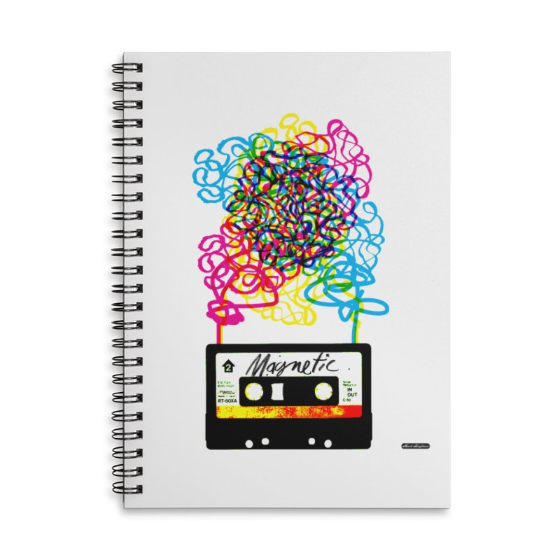 Magnetic Accessories Lined Spiral Notebook by DRAWMARK