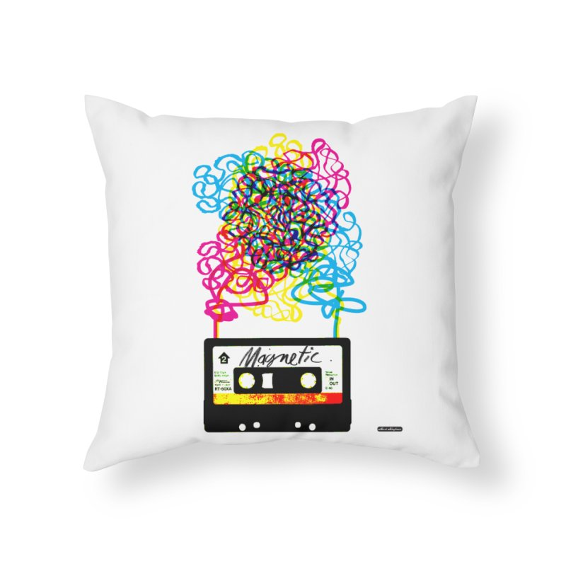 Magnetic Home Throw Pillow by DRAWMARK