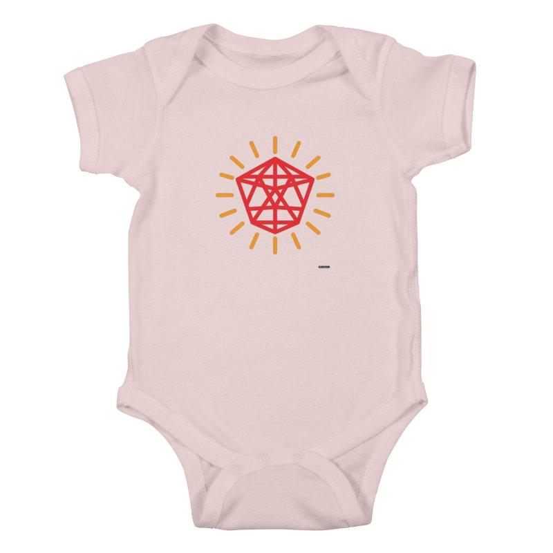 Red Diamond Kids Baby Bodysuit by DRAWMARK