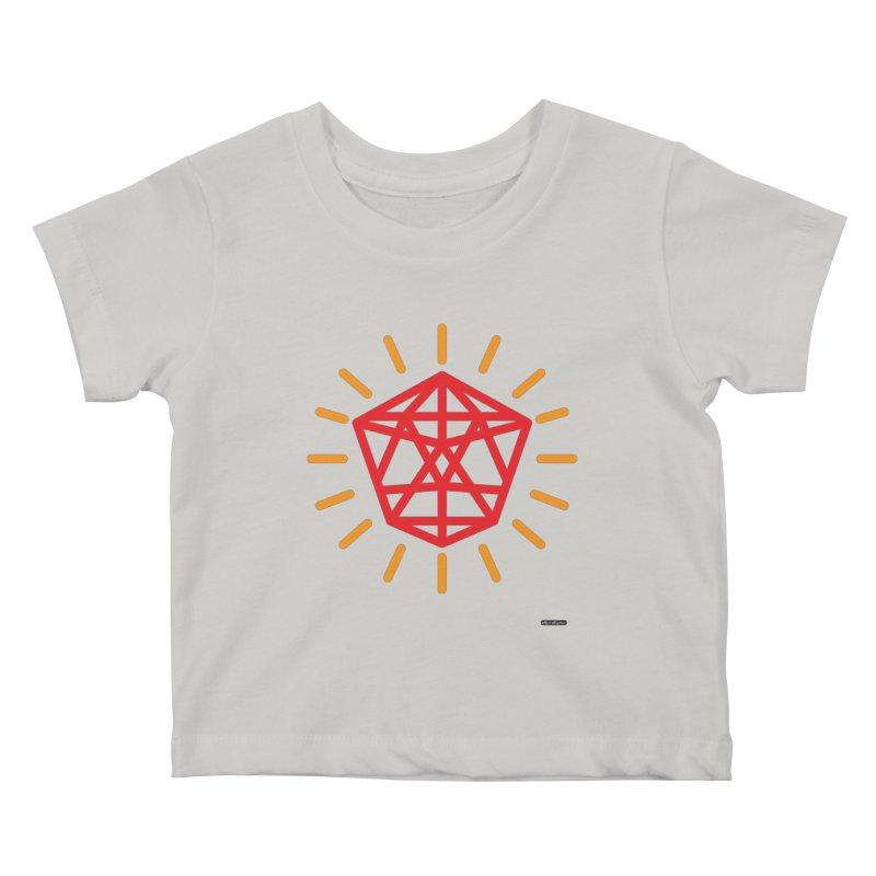 Red Diamond Kids Baby T-Shirt by DRAWMARK