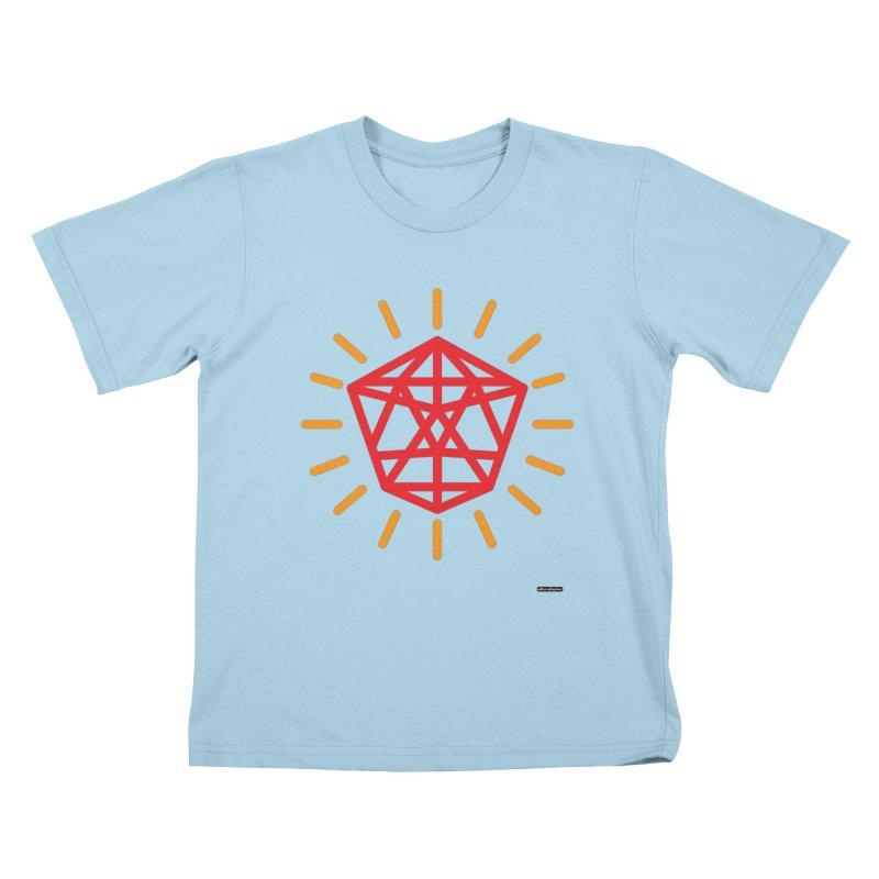 Red Diamond Kids T-Shirt by DRAWMARK