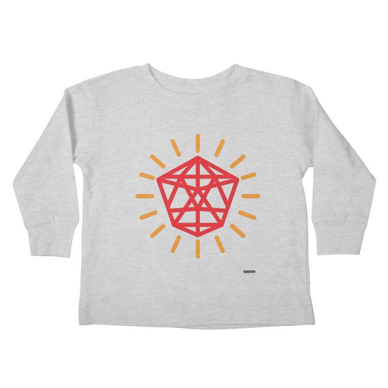 Red Diamond Kids Toddler Longsleeve T-Shirt by DRAWMARK