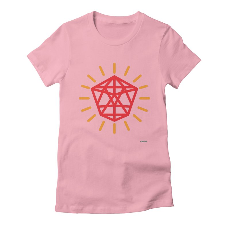 Red Diamond Women's Fitted T-Shirt by DRAWMARK