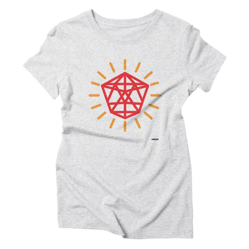Red Diamond Women's Triblend T-Shirt by DRAWMARK