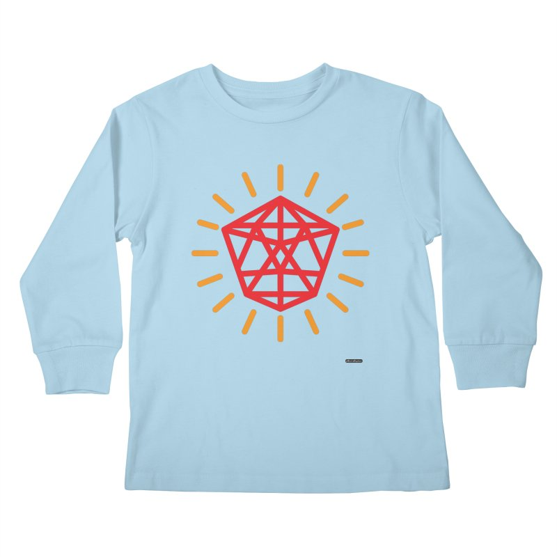 Red Diamond Kids Longsleeve T-Shirt by DRAWMARK