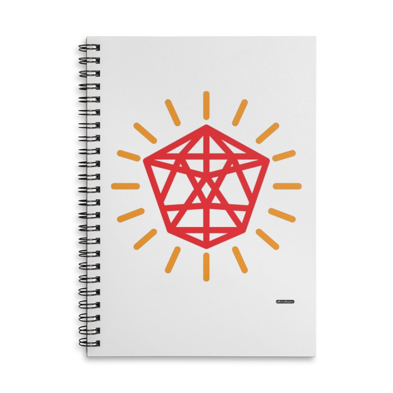 Red Diamond Accessories Lined Spiral Notebook by DRAWMARK