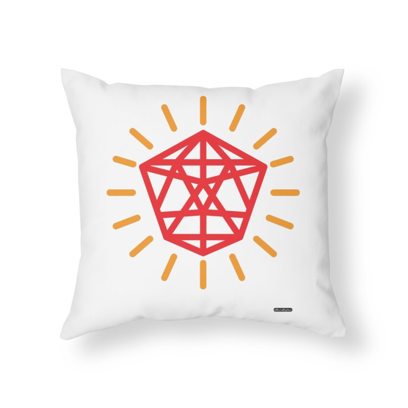Red Diamond Home Throw Pillow by DRAWMARK
