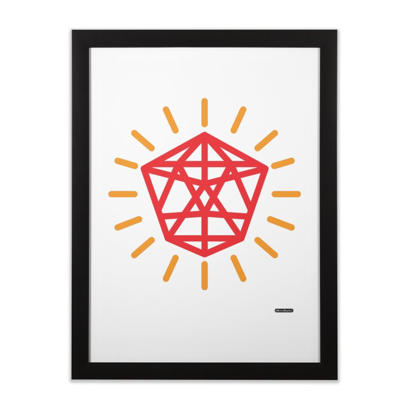 Red Diamond Home Framed Fine Art Print by DRAWMARK