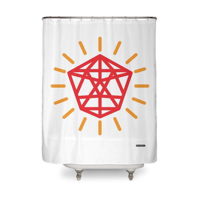 Red Diamond Home Shower Curtain by DRAWMARK