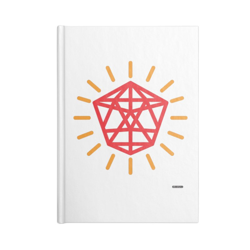 Red Diamond Accessories Blank Journal Notebook by DRAWMARK