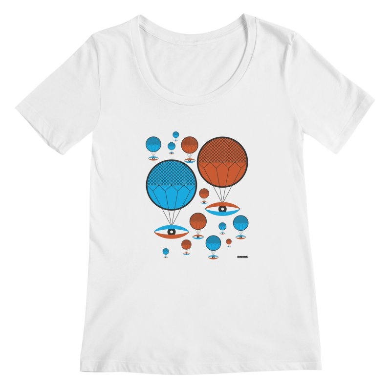 I See You Women's Scoopneck by DRAWMARK