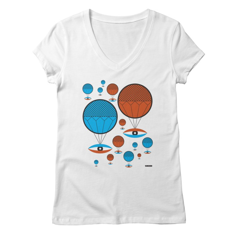 I See You Women's V-Neck by DRAWMARK